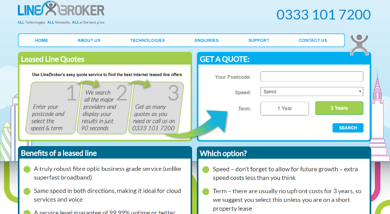 LineBroker; Leased Line Quotes